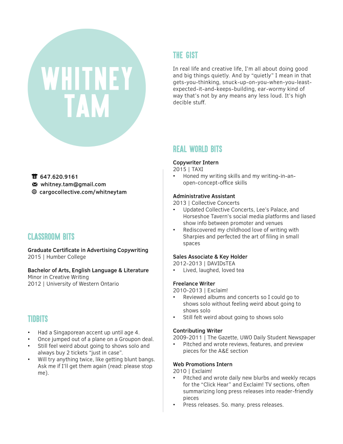 Lovely Cargo Collective  Copywriter Resume