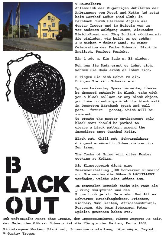 black out i + ii by gustav troger - roman klug, Einladungen